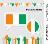national celebration with cote... | Shutterstock .eps vector #1074069707