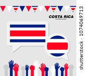 national celebration with costa ... | Shutterstock .eps vector #1074069713