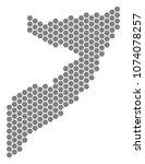 gray hexagonal somalia map.... | Shutterstock .eps vector #1074078257