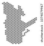 gray hexagonal quebec province... | Shutterstock .eps vector #1074079967