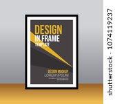 in frame desk poster abstract... | Shutterstock .eps vector #1074119237