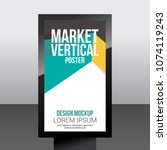 market vertical poster abstract ... | Shutterstock .eps vector #1074119243