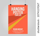 hanging poster clip abstract... | Shutterstock .eps vector #1074119267