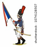 Napoleonic Soldier With A Flag