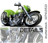Vector Cartoon Motobike one-click repaint option