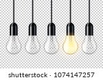 realistic transparent light... | Shutterstock .eps vector #1074147257