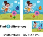 find 5 differences education... | Shutterstock .eps vector #1074154193