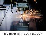 cnc laser cutting of metal ...   Shutterstock . vector #1074163907