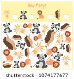counting game for preschool... | Shutterstock .eps vector #1074177677