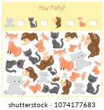 counting game for preschool... | Shutterstock .eps vector #1074177683
