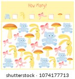 counting game for preschool... | Shutterstock .eps vector #1074177713
