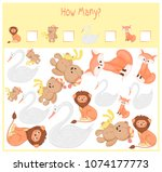 counting game for preschool... | Shutterstock .eps vector #1074177773