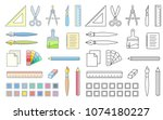 drawing and painting tools for...   Shutterstock .eps vector #1074180227