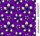 colourful symmetrical floral...   Shutterstock .eps vector #1074222377