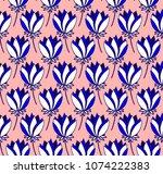 colourful symmetrical floral...   Shutterstock .eps vector #1074222383