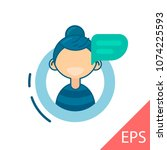 young woman avatar character... | Shutterstock .eps vector #1074225593