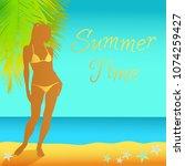 summer time vector background....   Shutterstock .eps vector #1074259427