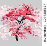 seamless border design with...   Shutterstock . vector #1074305837