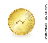 nano cryptocurrency gold coin... | Shutterstock .eps vector #1074316097