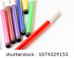 Red Color Pen And Other Colors...