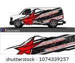 cargo van graphic. abstract... | Shutterstock .eps vector #1074339257