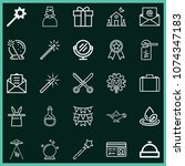 set of 25 other outline icons...   Shutterstock .eps vector #1074347183