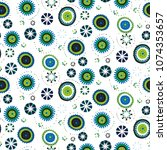 seamless ethnic vector pattern... | Shutterstock .eps vector #1074353657
