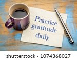 practice gratitude daily... | Shutterstock . vector #1074368027