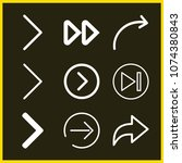 set of 9 next outline icons... | Shutterstock .eps vector #1074380843