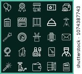set of 25 other outline icons...   Shutterstock .eps vector #1074387743