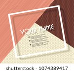 abstract geometric background.... | Shutterstock .eps vector #1074389417