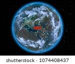 night view of turkey... | Shutterstock . vector #1074408437