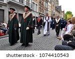 bruges  belgium   may 17  2012  ... | Shutterstock . vector #1074410543