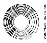 concentric rotating circular... | Shutterstock .eps vector #1074423083