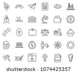 thin line icon set   check... | Shutterstock .eps vector #1074425357
