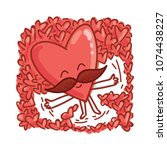 mister heart character with... | Shutterstock .eps vector #1074438227