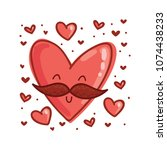 mister heart character with... | Shutterstock .eps vector #1074438233
