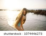 beautiful  fit and sexy girl in ...   Shutterstock . vector #1074446273