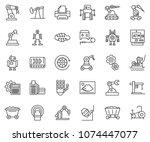 thin line icon set   card... | Shutterstock .eps vector #1074447077