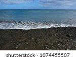 black beach of giniginamar...   Shutterstock . vector #1074455507