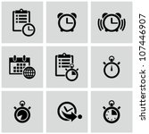 time clock icons set. | Shutterstock .eps vector #107446907