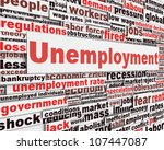 unemployment message concept.... | Shutterstock . vector #107447087