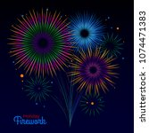 vector holiday firework.... | Shutterstock .eps vector #1074471383