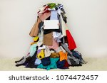 empty copy space on the board... | Shutterstock . vector #1074472457