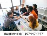 closeup top view shot of a... | Shutterstock . vector #1074474497