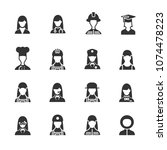 vector image set of profession... | Shutterstock .eps vector #1074478223