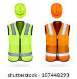 Safety Vests And Hardhats.
