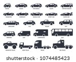 Car Type Icons Set. Vector...