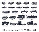 car type icons set. vector... | Shutterstock .eps vector #1074485423