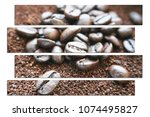 coffee art with coffee grounds  ... | Shutterstock . vector #1074495827